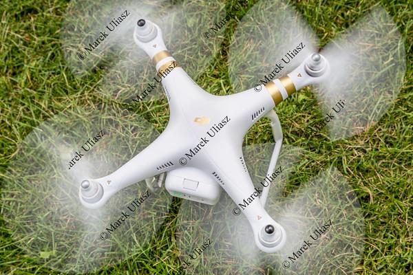 Phantom 3 hexacopter drone taking off