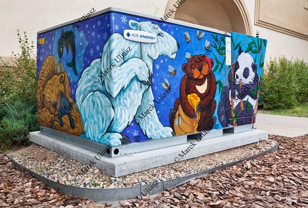 Ice Bear Mural on transformer cabinet