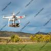 airborne quadcopter drone