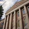 facade of renovated old Fort Collins High School, Colorado