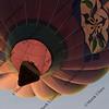 bottom of hot air balloon rising