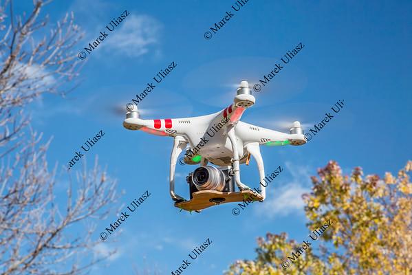 Phantom quadcopter drone flying