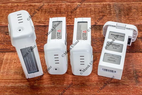 Lithium polymer batteries for Phantom drone