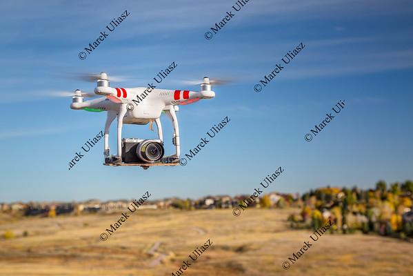 phantom drone flying