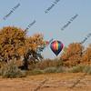 hot air balloon preparing to land in southern Colorado