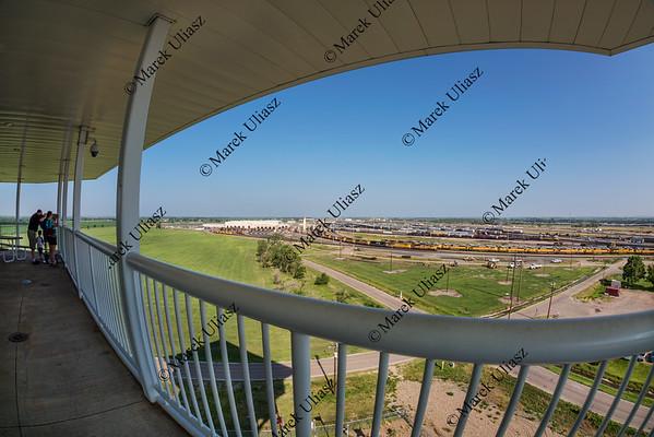 Bailey rail yard in fisheye perspective