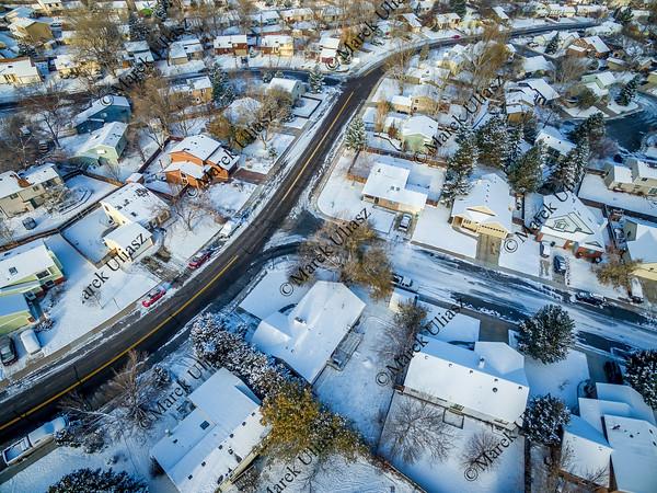 Fort Collins winter cityscape