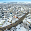 Fort Collins winter cityscape