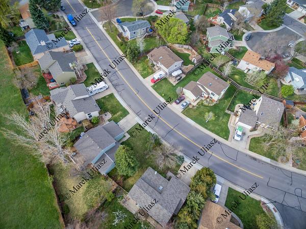 aerial veiw of residential neighborhood