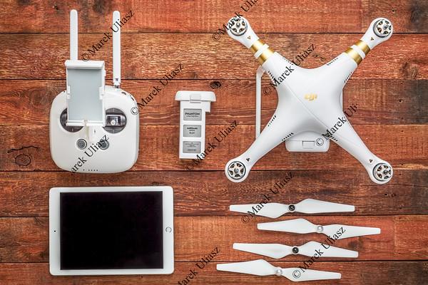 Phantom 3 quadcopter drone set