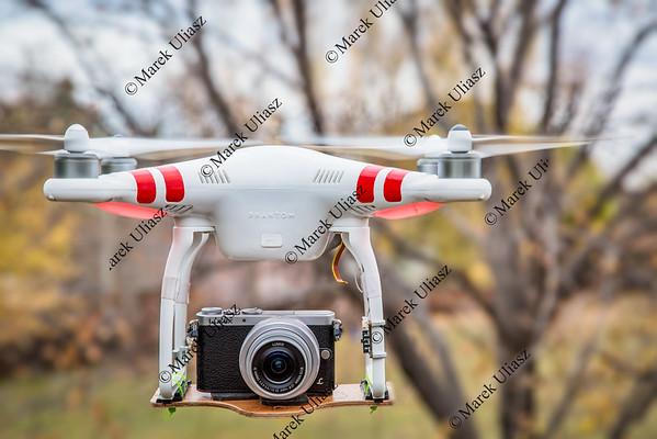 airborne Phantom quadcopter drone