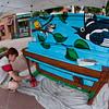 mural painter at work