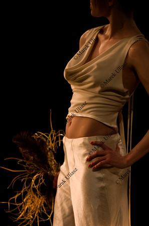 fashion model in a brave white wedding dress