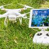 Phantom 3 quadcopter drone with iPad