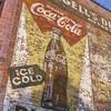Coca-Cola vintage mural ad