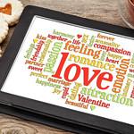 love and romance word cloud