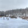 Ice fishing on Blackwater River