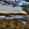 Cheat River valley near St George,  WV