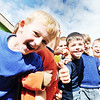 preschool  kids outdoor have fun