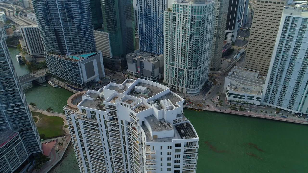 Drone footage Brickell Miami