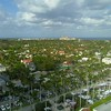 Aerial drone video West Palm Beach real estate view of The Breakers 5 star hotel