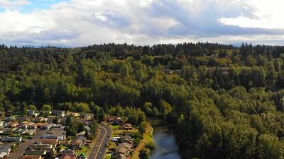 Single family homes Auburn Washington aerial drone video footage