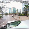 Driving on Brickell Avenue 360 vr camera stabilized drive plates
