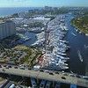 Aerial drone shot Florida International Boat Show 2017 video 4k 60p