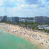 Aerial shot Spring breakers Fort Lauderdale Beach Florida USA