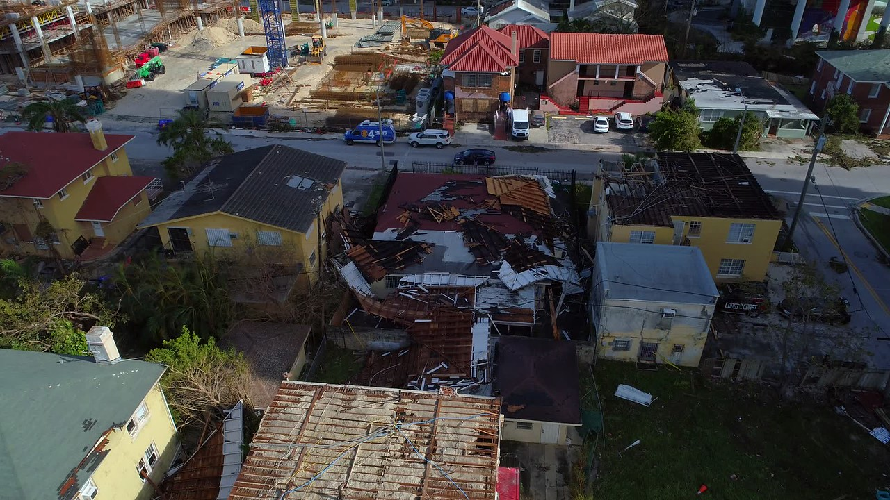 Homes destroyed by Huricane Irma Miami