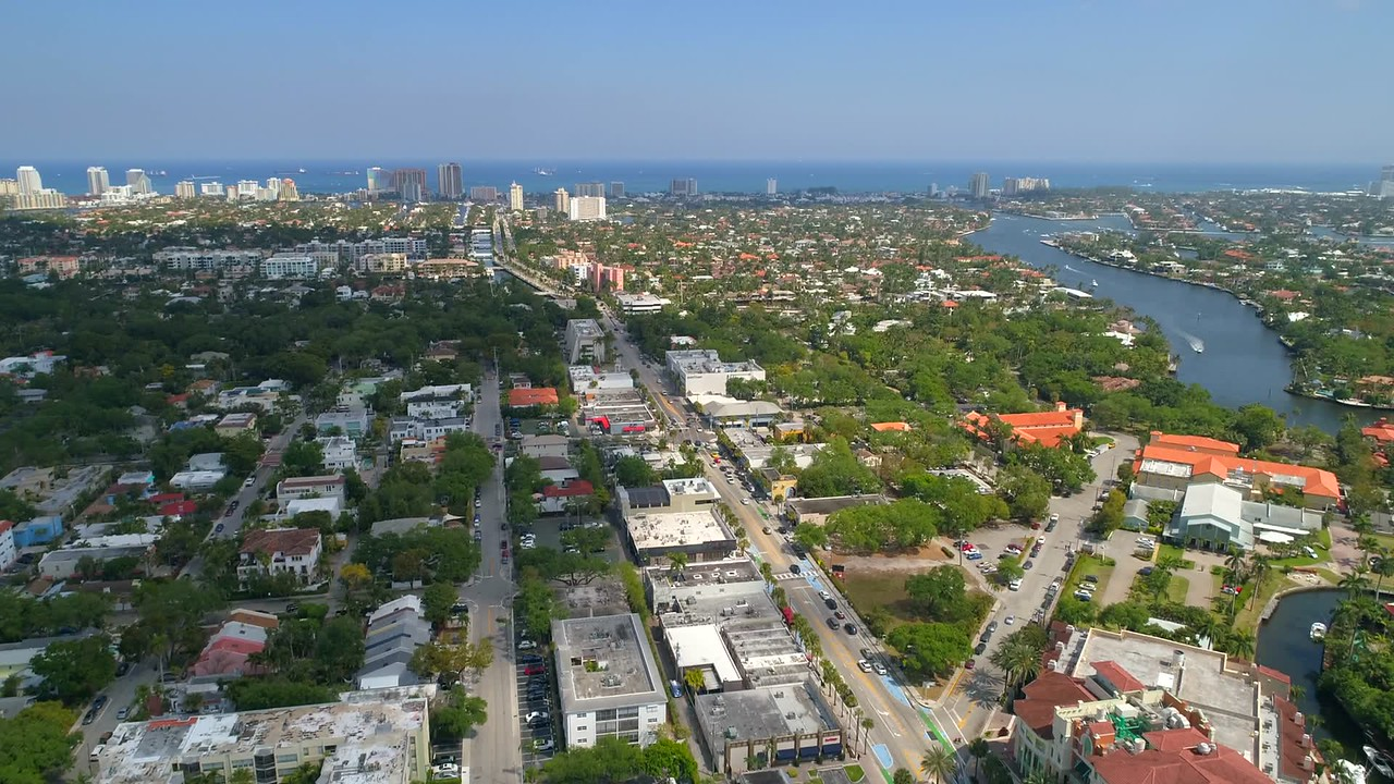 Aircraft point of view Fort Lauderdale Florida 4k 60p