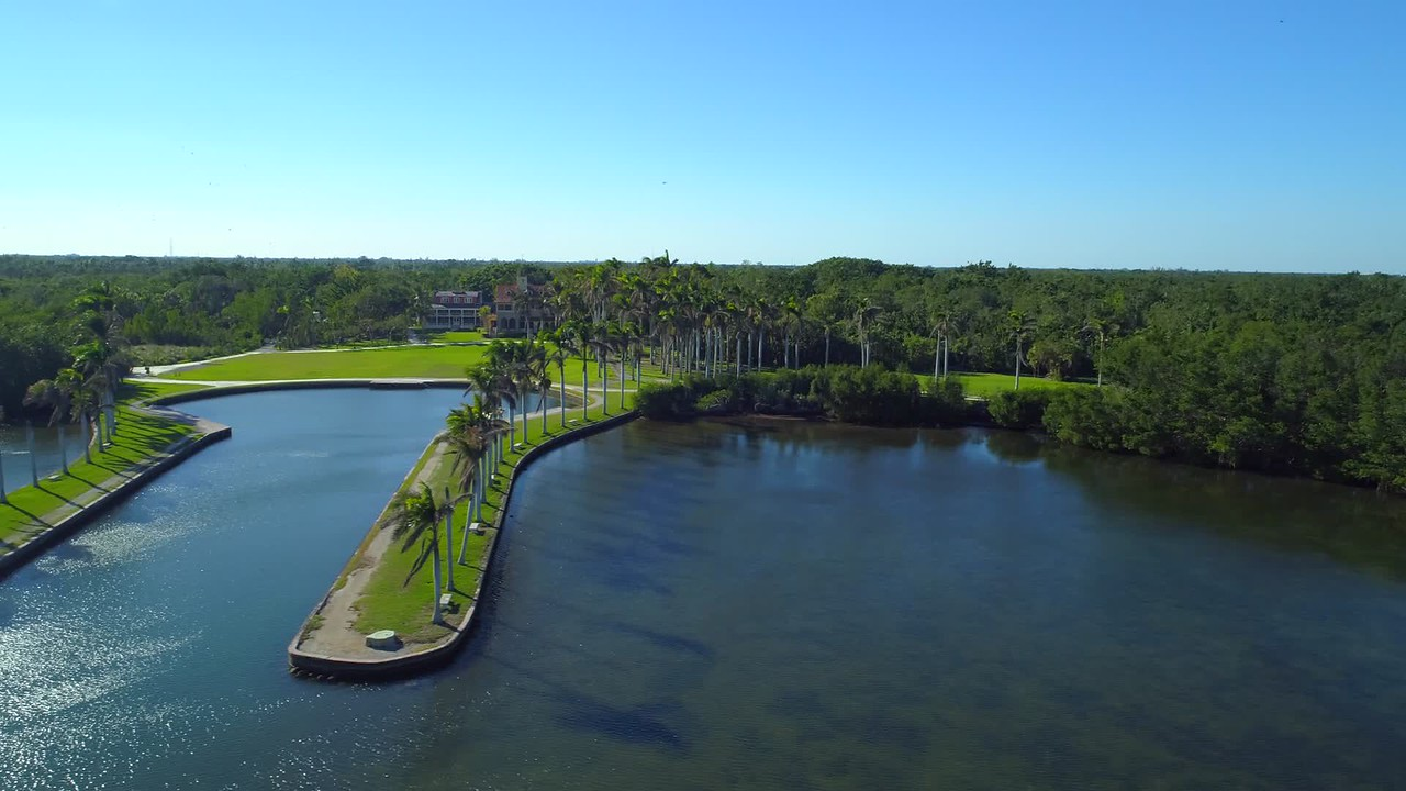 Aerial drone video Deering Estate Miami FL