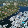 Aerial video Fort Lauderdale Boat Show 4k