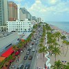 Aerial footage Fort Lauderdale Beach Boulevard spring break 2018 4k 60p