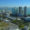 City of Miami Downtown Edgewater aerial 4k 60p