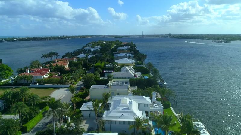 Everglades Island Palm Beach Florida luxury homes aerial 4k 60p