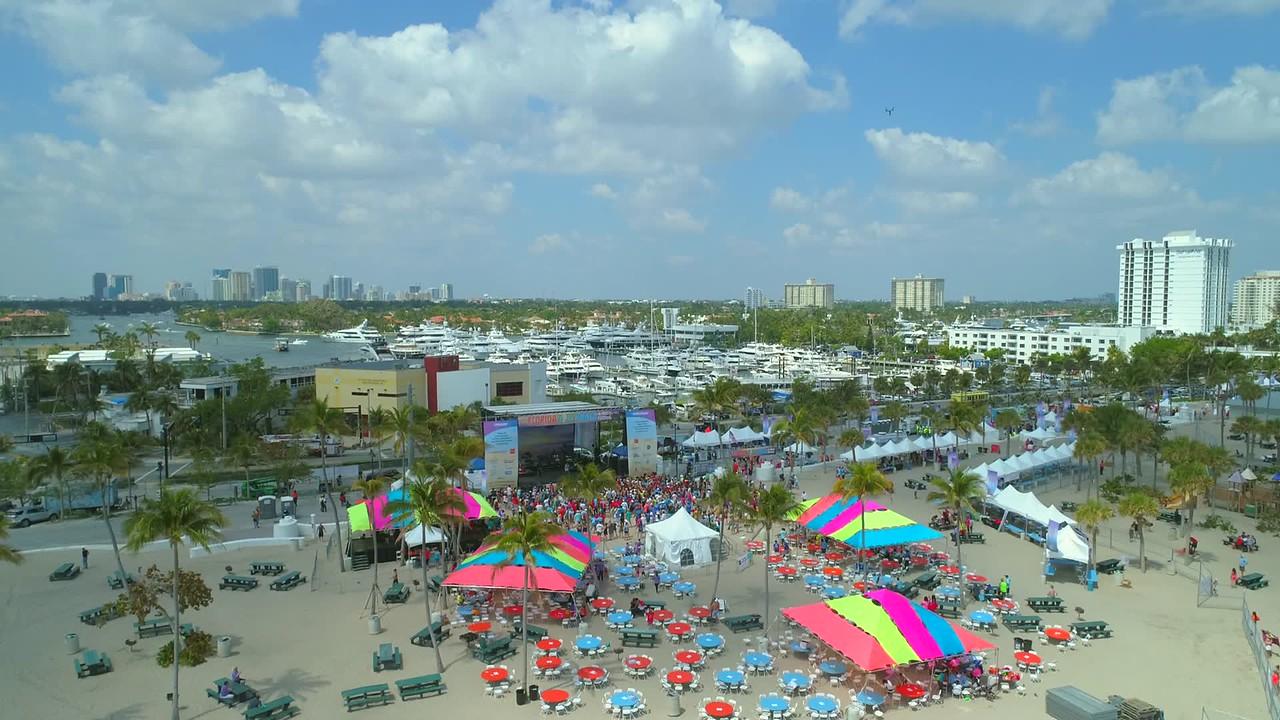 Drone footage Fort Lauderdale Aids Walk concert 4k 60p