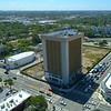 Aerial Miami old immigration building demolition 2018 4k 60p