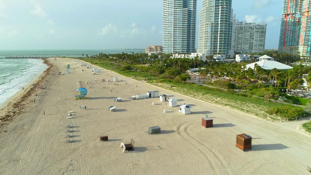 Aerial Miami Beach cabanas fortourists