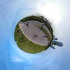 Miniature planet motion footage Miami Beach South Pointe Park