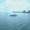 Aerial video luxury yacht off shore Fort Lauderdale Florida