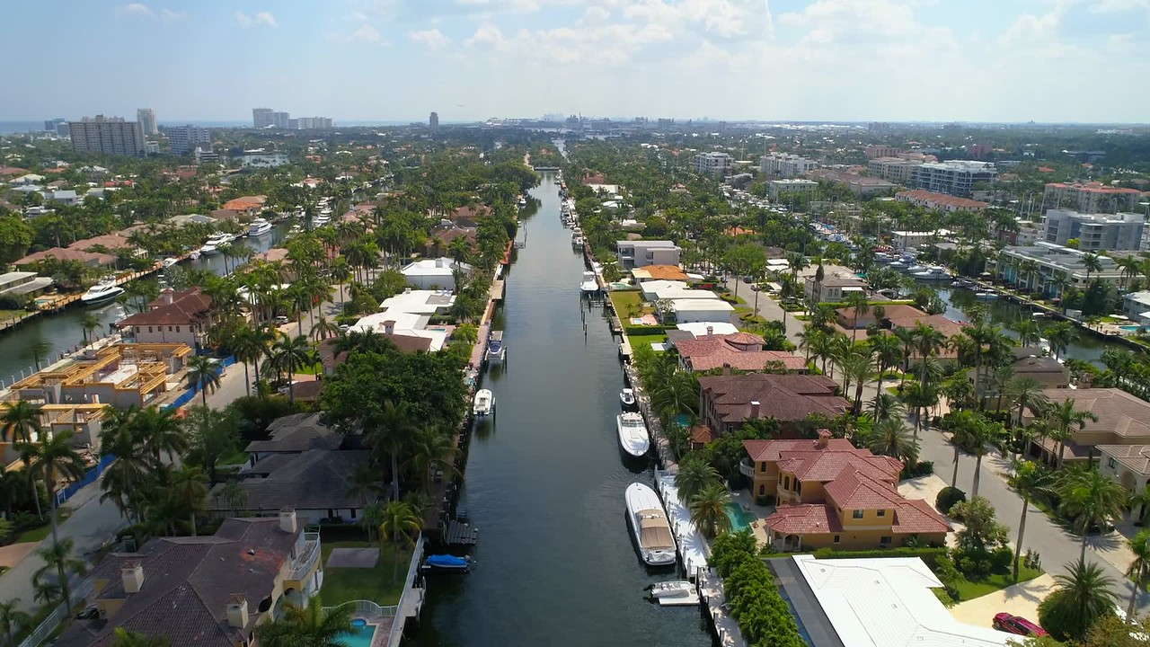 Luxury Fort Lauderdale homes aerial real estate tour