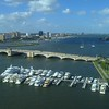 Aerial drone video Palm Beach Docks 4k flyover