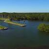 Drone shot Deering Estate Miami FL 4k 24p