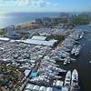 Aerial tilt up reveal Fort Lauderdale 2017 boat show