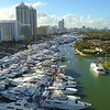 Hyperlapse aerial drone video Miami Beach boat show and expo 2018