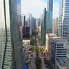Aerial footage Brickell Miami business district 4k 24p