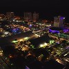 Night footage aerial fort lauderdale boat show 4k