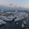 Aerial drone tour Fort Lauderdale International Boat Show 4k