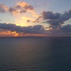 Aerial timelapse hyperlapse sunrise over ocean